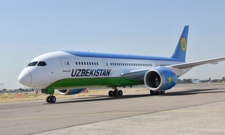 Dreamliner Taxis To The Tashkent Terminal