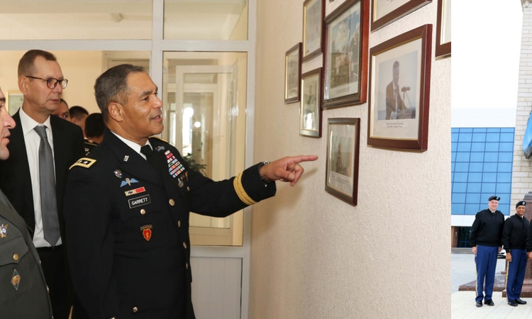 General Michael Garrett Commanding General of U.S. Army Central arrived in Uzbekistan