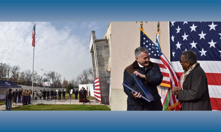 U.S. and Uzbekistan mark 25th Anniversary of Diplomatic Relations with flag raising