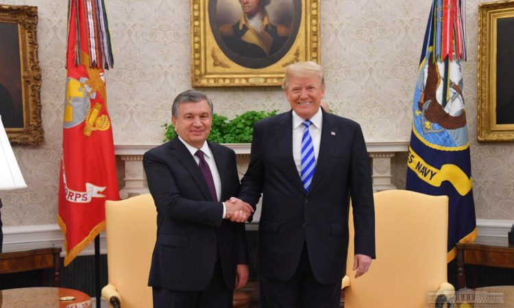 President Trump and President Mirziyoyev of the Republic of Uzbekistan